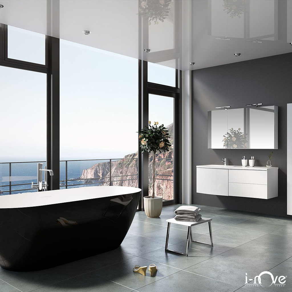 photos plafonds tendus de salles de bain inove france. Black Bedroom Furniture Sets. Home Design Ideas